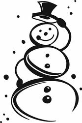 Cute Snowman Wall Decals Svg Freebies And Tips