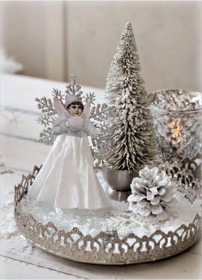 Fascinating White Vintage Christmas Ideas 35
