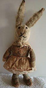 "RARE Vintage antique Deans Rag Book MA CONEY bunny/ rabbit / teddy bear 14"" 1930"