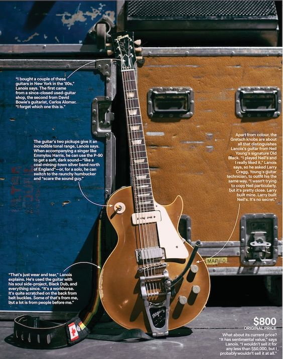 daniel lanois 39 gibson les paul 39 goldtop 39 with bigsby tremolo arm the grid to guitars. Black Bedroom Furniture Sets. Home Design Ideas