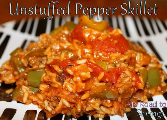 Learning the Ropes...: Unstuffed Pepper Skillet