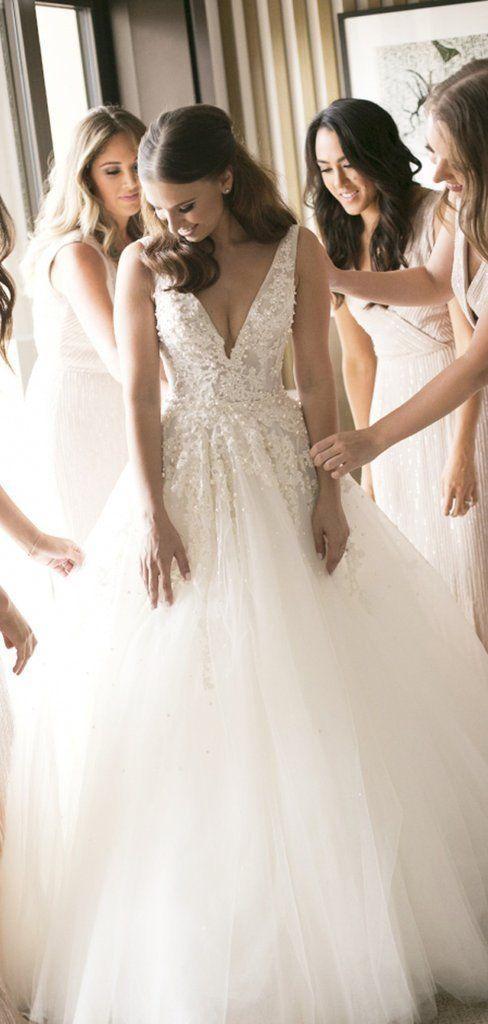 V Neck Lace Beaded Wedding Dresses A Line Tulle Wedding Dresses Wedding Dresses Weddingdresse Tulle Wedding Dress Wedding Dresses Beaded Pearl Wedding Dress