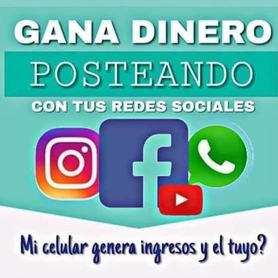Gana Dinero Posteando Con Tus Redes Sociales Money Cash Money On My Mind Money Maker