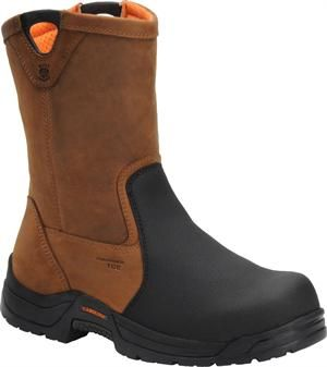 "Men's Carolina 10"" Wellington Comp Wide Toe - Copper Crazy Horse"