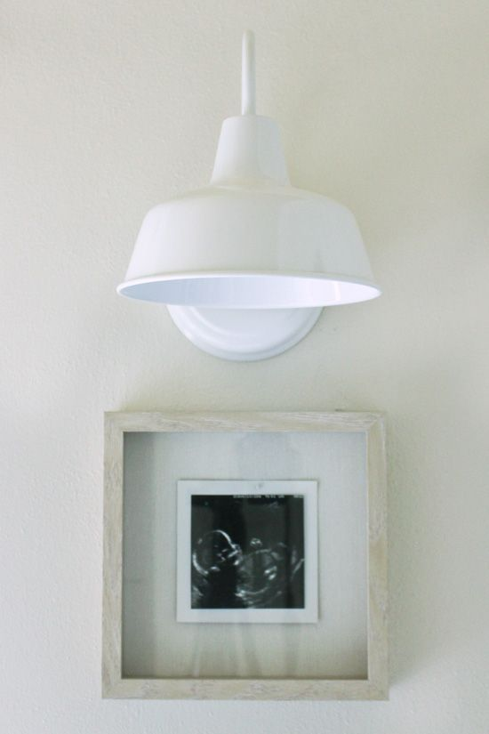 White Farmhouse Sconce Over Ultrasound Picture In Frame Diy Wall Wall Sconces Sconces