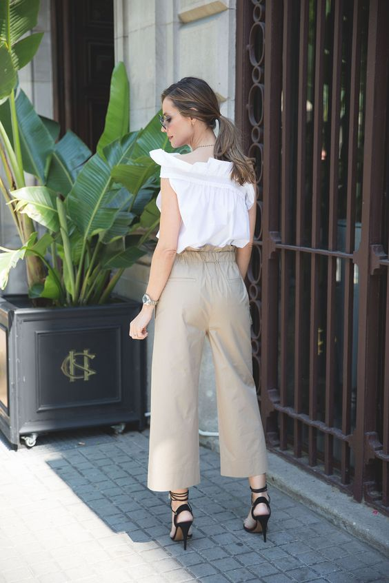 cropped nude pants looks - Lady Addict