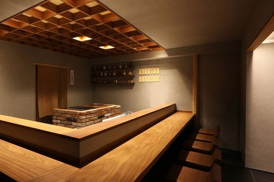 店内空間 無垢カウンター モルタル おでんデザイン 2020 음식점