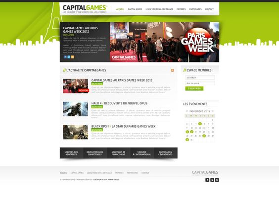 Site internet vitrine Capital Games