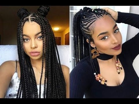 2018 Latest Braided Hairstyles Get Ideas Of Black Braided