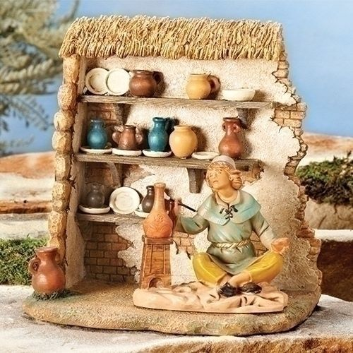 Fontanini-Pottery-Shop-Italian-Nativity-Village-Building-Figurine-55584-Italy