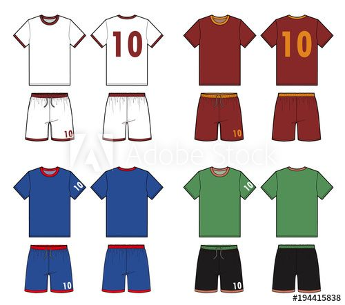 Football Soccer Uniform Vector Illustration Flat Sketches Template Soccer Uniforms Technical Drawing Drawing Templates