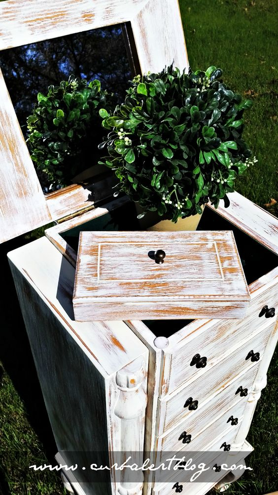 Curb Alert! : White Rustic Jewelry Armoire and Trades of Hope Jewelry Giveaway!