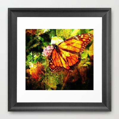 Monarch Grunge Framed Art Print by Angelandspot - $31.00