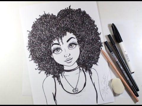 Como Desenhar Garota Tumblr Cacheada Passo A Passo 451