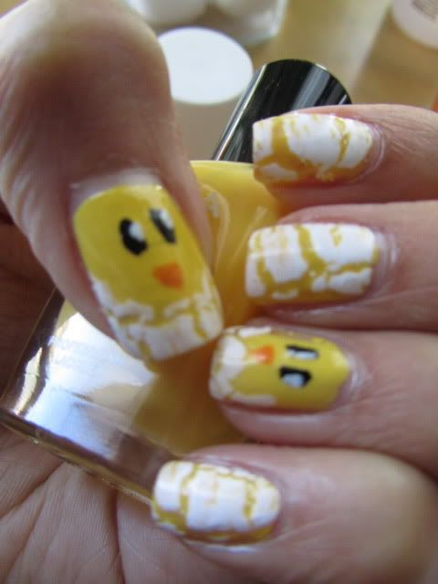I'm pretty sure they would choose these ones. The crackle polish in white is to portray the egg shell cracking when the chick is hatched. Just in case you didn't already understand that :)