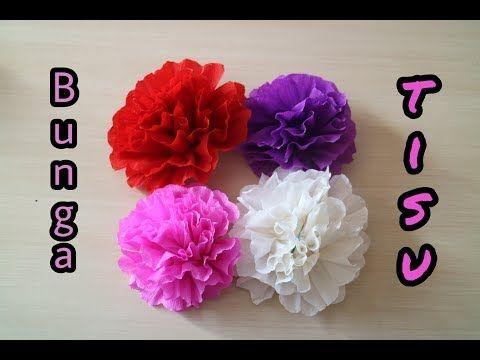 Diy Cara Mudah Membuat Bunga Dari Kertas Tisu Cantik Dan Cepat Youtube Bunga Tutorial Bunga Kertas Bunga Kertas Tisu