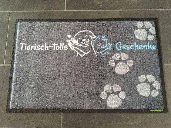 Fußmatte tierisch-tolle Geschenke! #fussmatte #doormat #matmaker