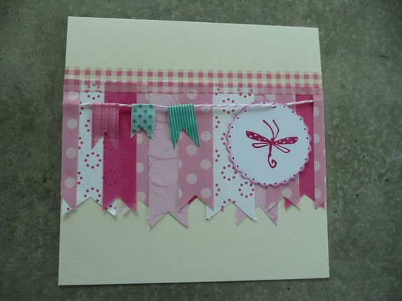 Card with masking/washi  tape