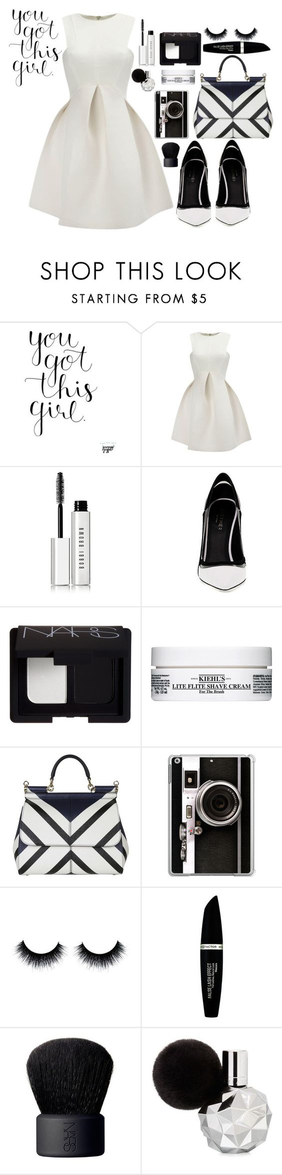 """""""Untitled #209"""" by luxurylust-x ❤ liked on Polyvore featuring WithChic, Bobbi Brown Cosmetics, Greymer, NARS Cosmetics, Kiehl's, Dolce&Gabbana, Casetify and Max Factor"""