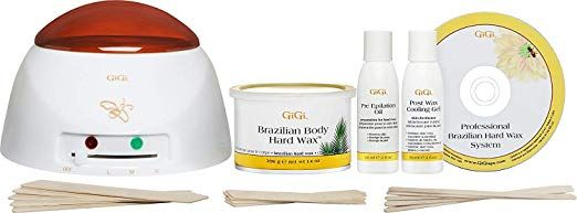 Gigi Brazilian Waxing Kit 14 Ounce Hair Waxing Kits Beauty