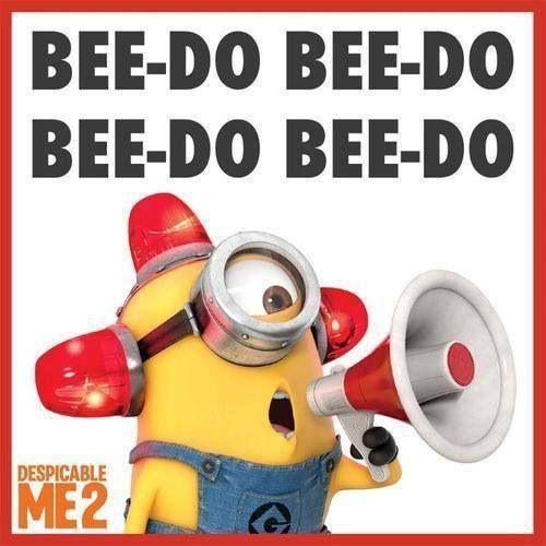 MINIONS Minion Fireman Fire Fighter Bee do Bee Doo Bee-Do ...