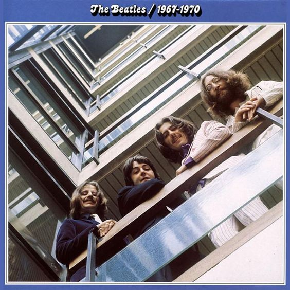 """The Beatles """"1967-1970"""" (1973) Following on from the red album, gone are the beatles suits... and in come psychedelic rock,,, Just """"Let It Be""""."""