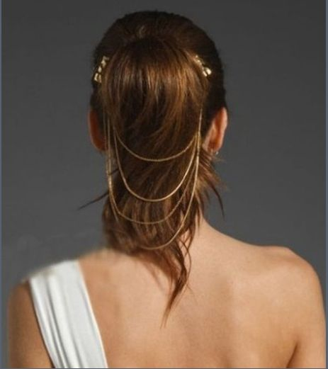For a fancy ponytail: