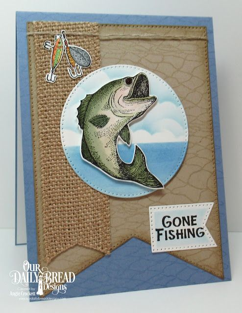 Odbd Great Catch Stamp Die Duos Odbd Fishing Net Background Odbd Custom Large Banners Dies Odb Fishing Birthday Cards Masculine Birthday Cards Fishing Cards