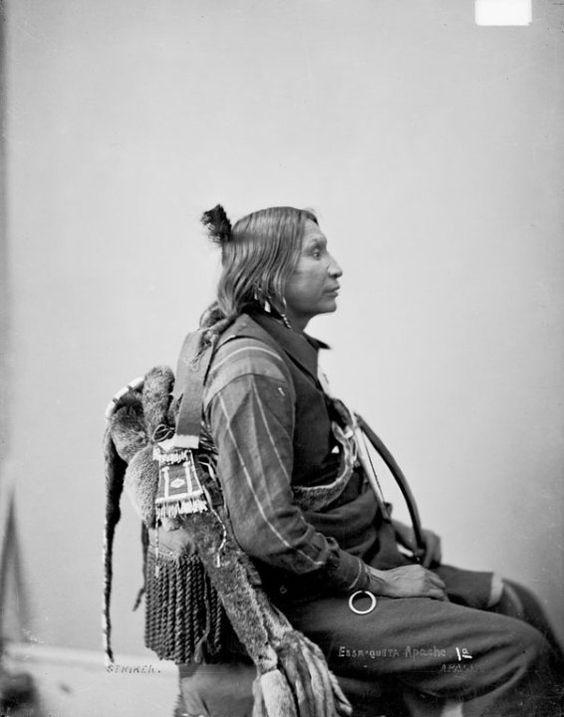 "Striker (aka Essa-quita)-   Kiowa Apache -   1872  Essa- quita is what comanches use to call them, meaning ""grey butt""..."