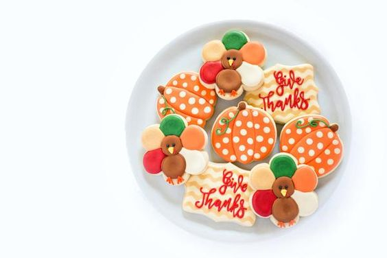 Jana Lee's Bake Shop  Decorated Sugar Cookies  Give Thanks