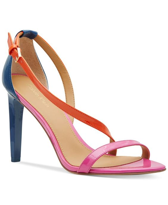 Calvin Klein Women&-39-s Narella Colorblocked Dress Sandals - Products ...
