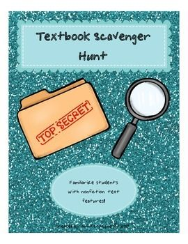 FREE resource for nonfiction reading.  Engage your students with their textbooks.  Have them explore and become familiar with nonfiction text features.  Students will spend some time exploring their textbooks in order to answer the questions.  Great support for our special education students.  Download at:  https://www.teacherspayteachers.com/Product/Textbook-Scavenger-Hunt-2079944