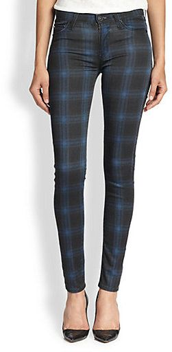 Hudson Nico Plaid Skinny Jeans