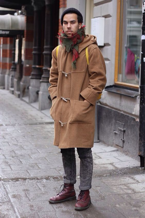 Duffle coat street style | Style for men | Pinterest | Coats