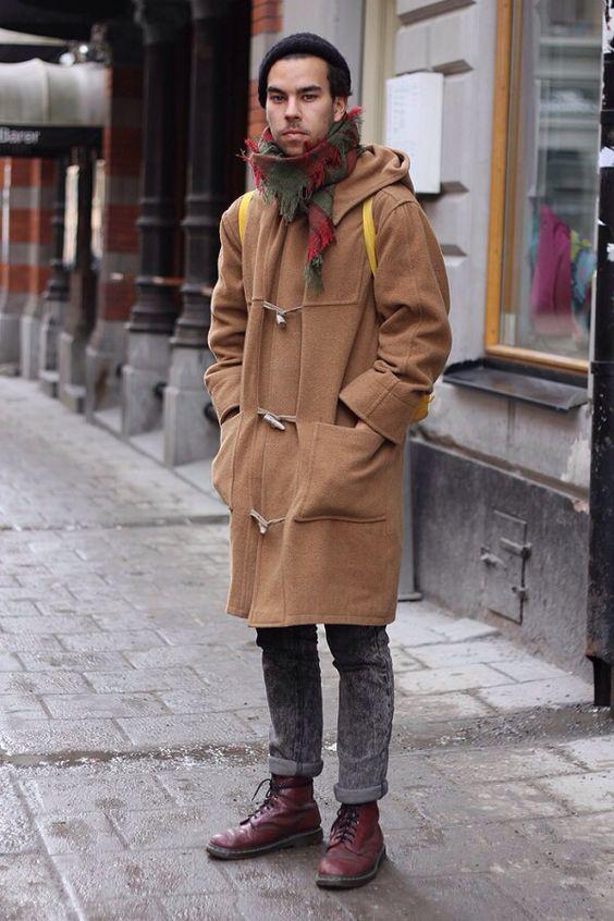 Duffle coat street style | Style for men | Pinterest | Coats