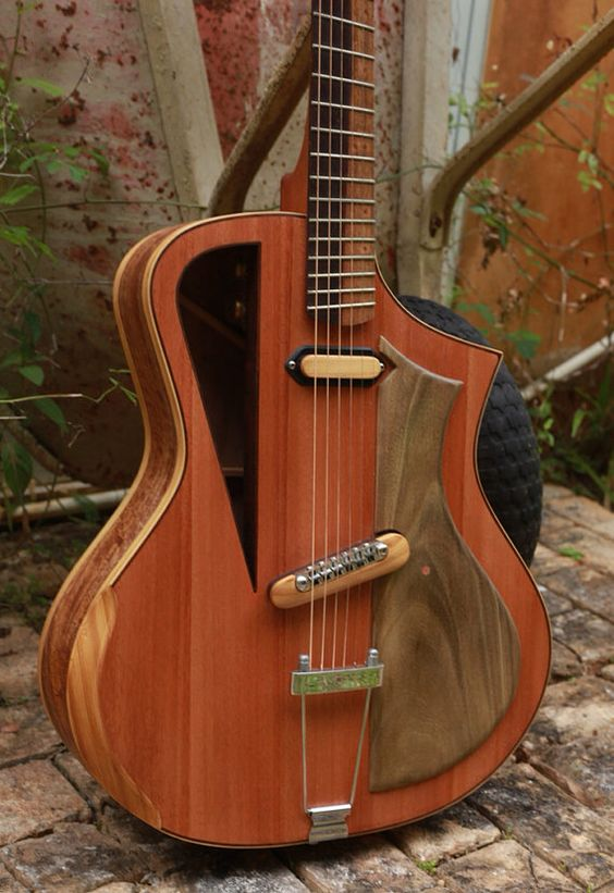 """Electro acoustic guitar Handmade Luthier fanned fret """"Raulo"""""""