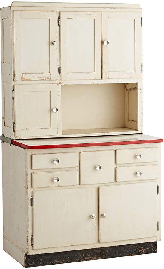 Rejuvenation Art Deco Hoosier Cabinet W Red White Porcelain Top Hoosier Cabinet Hoosier Cabinets Cabinet