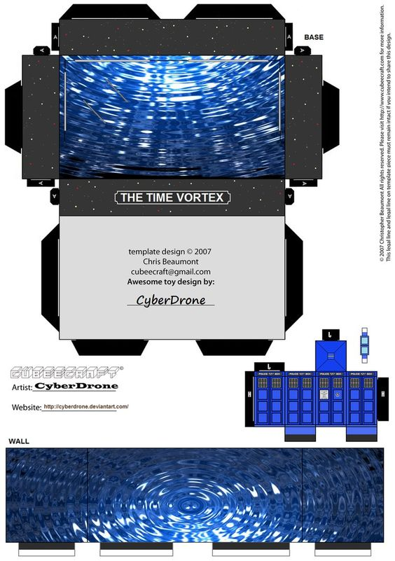Cubee - Dr Who Mini Diorama 2 by ~CyberDrone on deviantART