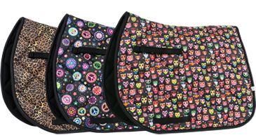 LÉTTIA Printed All-Purpose Saddle Pad - Owl - 1021 - $49.99