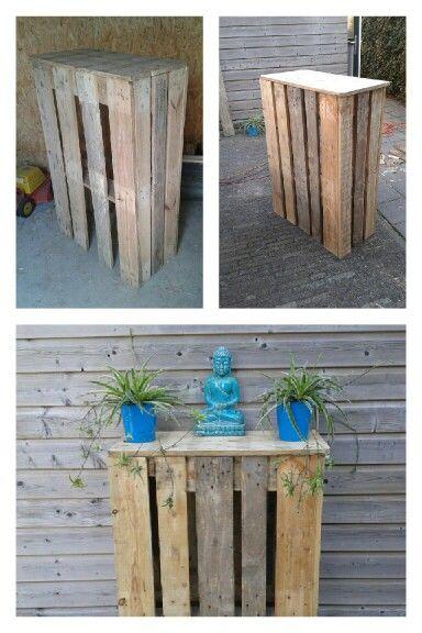 Tuintafel  statafel van pallets voor buiten    Huis en tuin   Pinterest   Palleten