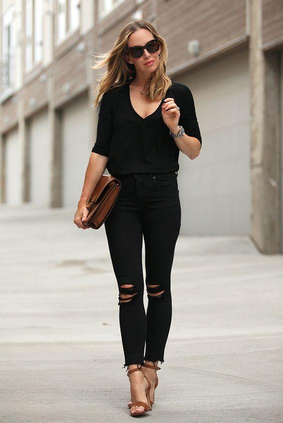 15 Ultra-Chic Ways To Wear Black In Summer | Summer Heeled