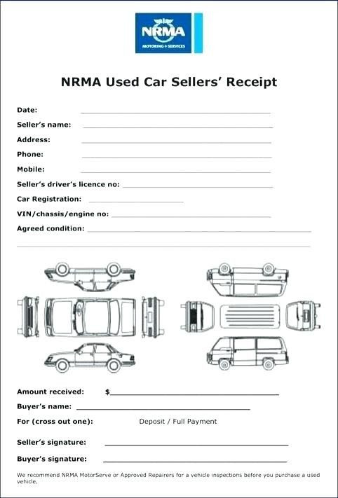 40 Auto Sales Receipt Template Zi1i