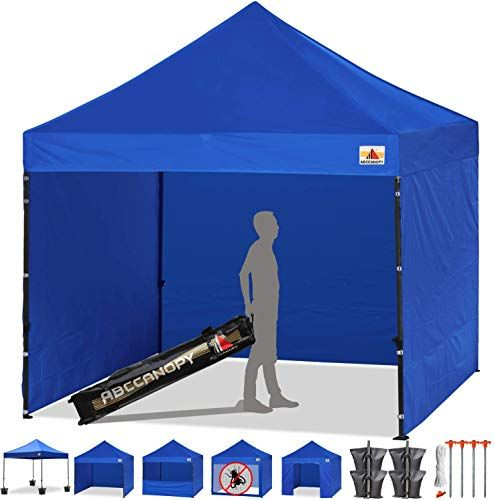 Chic Abccanopy Tents Canopy Tent 10 X 10 Pop Up Canopies Commercial Tents Market Stall With 6 Removable Sidewalls An Portable Canopy Camping Canopy Canopy Tent