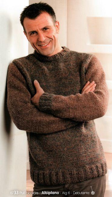 patron tricot pull homme gratuit