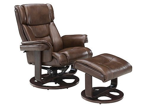 Monty Reclining Chair Ottoman Brown Raymour Flanigan Scandinavian Recliner Chairs Leather Chair Living Room Leather Recliner Chair