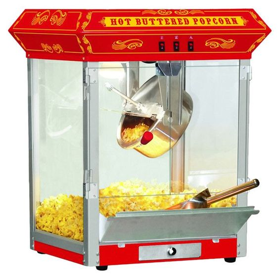 8 Oz. Countertop Sideshow Hot Oil Kettle Popcorn Machine