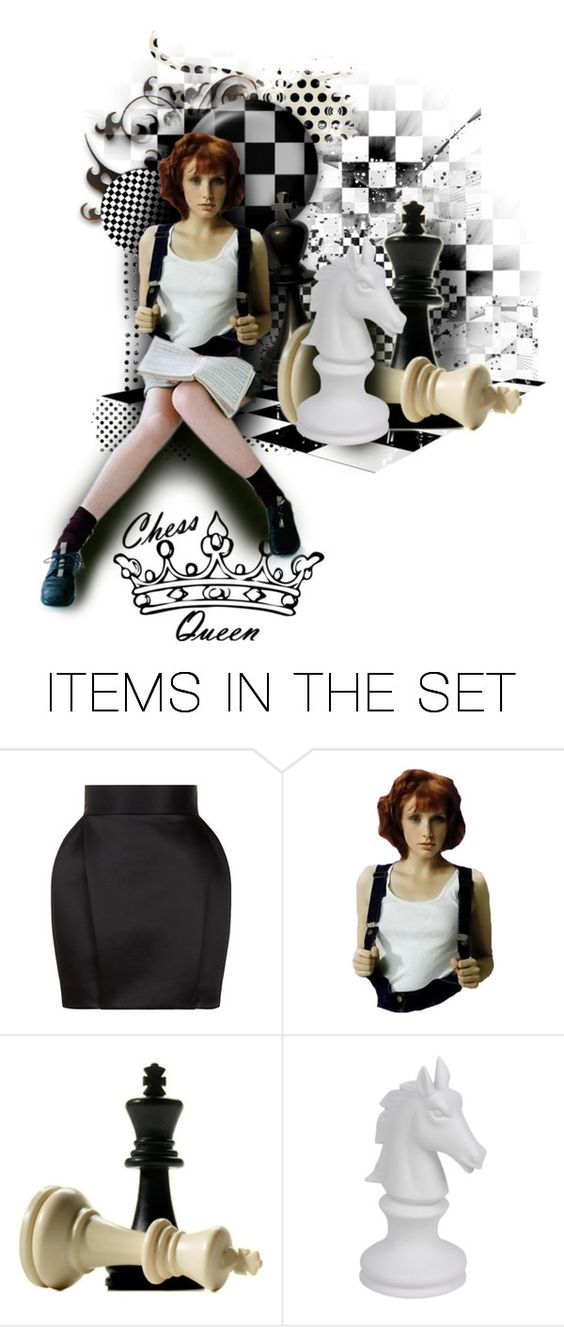 """Check Mate"" by raynefyre ❤ liked on Polyvore featuring art, contest, doll and dollset"