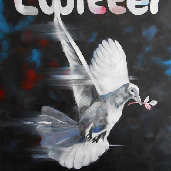 Art On Screen - [AOS] Magazine NEWS ☆ Wien #vienna #wien #Österreich #austria #kunst #museum #vögel #bird #twitter Paloma by Martin G. Sonnleitner #artonscreen Artist www.aos-magazine.com