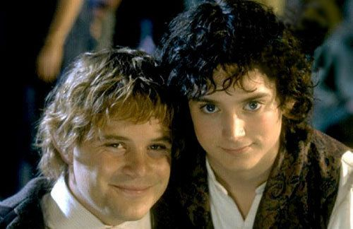 "Sam (Sean Astin) and Frodo (Elijah Wood) ""Lord of the Rings"":"