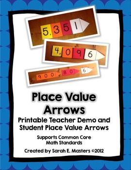 Place+Value+Arrows+Math+Tools  Included:+ Place+Value+Arrows+(Ones—Thousands) Teacher+Demo+Place+Value+Arrows+(Ones—Thousands)  What+are+place+value+arrows?+ Place+value+arrows+help+students+see+the+value+of+digits+within+numbers.++Numbers+can+be+composed+by+stacking+the+arrows+and+lining+them+up+along+the+left+side,+and+then+numbers+can+be+decomposed+to+reveal+the+value+of+each+digit.